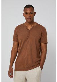 medicine - Medicine - T-shirt Basic. Kolor: brązowy. Materiał: dzianina. Długość: krótkie. Wzór: gładki