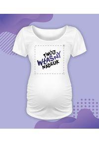 Bluzka ciążowa MegaKoszulki moda ciążowa, z nadrukiem