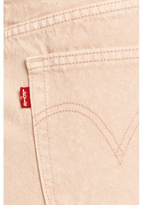 Levi's® - Levi's - Spódnica jeansowa. Okazja: na co dzień, na spotkanie biznesowe. Kolor: różowy. Materiał: jeans. Styl: casual, biznesowy