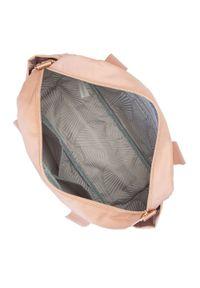 Wittchen - Torba podróżna z nylonu mała. Kolor: beżowy. Materiał: nylon