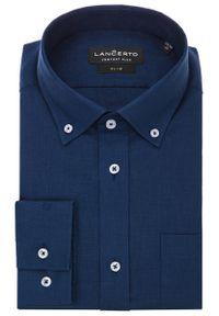 Niebieska koszula Lancerto krótka, na lato
