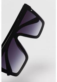 Czarne okulary przeciwsłoneczne Answear Lab prostokątne