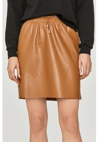 Brązowa spódnica Vero Moda na co dzień, gładkie, casualowa