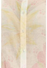 Desigual - Koszula. Okazja: na co dzień. Kolor: biały. Materiał: tkanina. Długość rękawa: długi rękaw. Długość: długie. Styl: casual