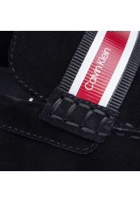 Czarne półbuty Calvin Klein z cholewką, z aplikacjami, casualowe, na co dzień