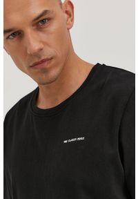 Czarna bluzka The Classy Issue casualowa, z nadrukiem