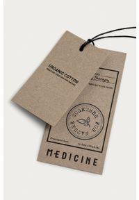 medicine - Medicine - Polo Basic. Typ kołnierza: polo. Kolor: czarny. Materiał: bawełna, dzianina. Długość: krótkie