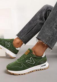 Renee - Zielone Buty Sportowe Eos. Kolor: zielony