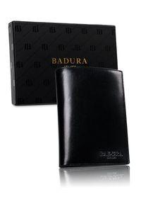 Portfel męski czarny Badura PO_M067CZ_CE. Kolor: czarny. Materiał: skóra