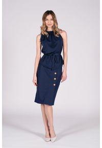 Niebieska spódnica VEVA na lato, długa