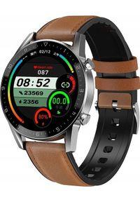 Smartwatch Pacific 19-3 Brązowy. Rodzaj zegarka: smartwatch. Kolor: brązowy