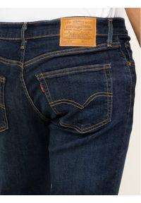 Levi's® Jeansy 511™ 04511-4102 Granatowy Slim Fit. Kolor: niebieski. Materiał: jeans, elastan, bawełna