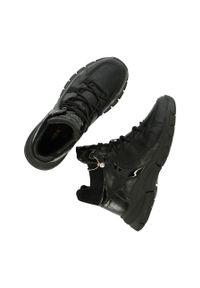 Czarne buty sportowe MEXX na sznurówki, z cholewką