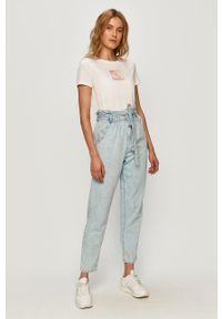 Niebieski jeansy loose fit TALLY WEIJL w kolorowe wzory