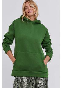 Answear Lab - Bluza. Typ kołnierza: kaptur. Kolor: zielony. Styl: wakacyjny