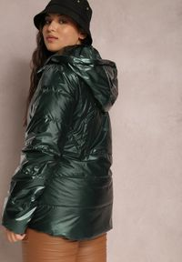 Renee - Ciemnozielona Kurtka Pronite. Typ kołnierza: kaptur. Kolor: zielony. Materiał: tkanina. Styl: klasyczny