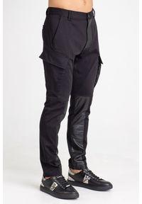 Czarne spodnie Just Cavalli z aplikacjami