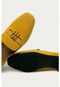 TOMMY HILFIGER - Tommy Hilfiger - Mokasyny zamszowe. Kolor: żółty. Materiał: zamsz