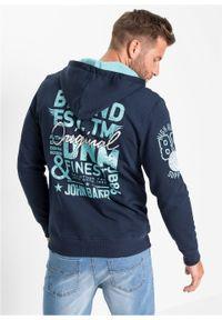 Niebieska bluza bonprix z nadrukiem, z kapturem #6