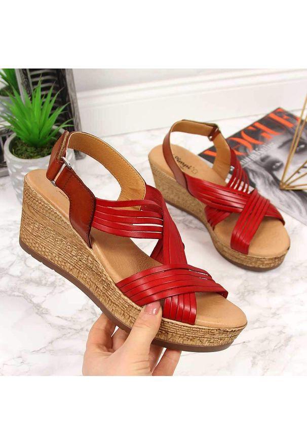 Czerwone sandały El Pimpi eleganckie