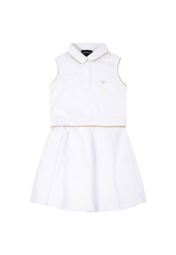 Biała sukienka Emporio Armani casualowa, na co dzień, prosta