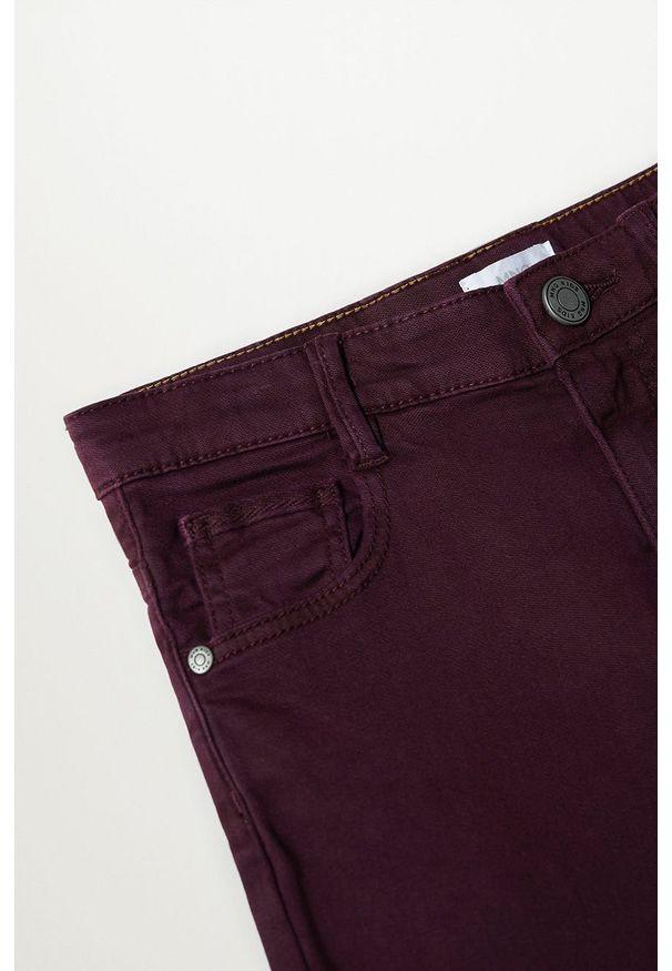 Brązowe jeansy Mango Kids w kolorowe wzory