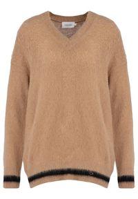 Brązowy sweter klasyczny Calvin Klein