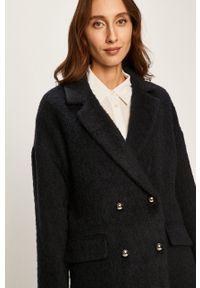 Niebieski płaszcz Liu Jo klasyczny, bez kaptura
