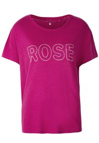 Różowy t-shirt TOP SECRET na lato, krótki, z krótkim rękawem
