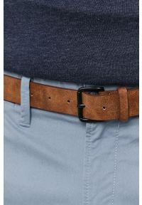 Tom Tailor - Spodnie. Kolor: niebieski. Materiał: tkanina. Wzór: gładki