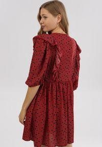 Born2be - Czerwona Sukienka Doriliphis. Kolor: czerwony