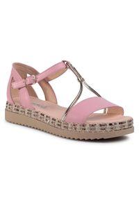 Różowe sandały Libero casualowe, na co dzień
