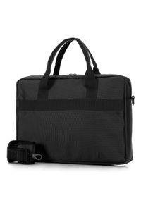 "Wittchen - Męska torba na laptopa 15,6"" klasyczna. Kolor: czarny. Materiał: poliester. Styl: klasyczny"