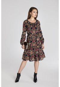 Sukienka Vito Vergelis w kwiaty, elegancka, na jesień