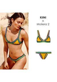 KIINI - Top od bikini Ro. Kolor: żółty. Materiał: poliester, materiał, bawełna