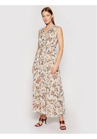 Liu Jo Sukienka codzienna WA1221 T5959 Beżowy Regular Fit. Okazja: na co dzień. Kolor: beżowy. Typ sukienki: proste. Styl: casual
