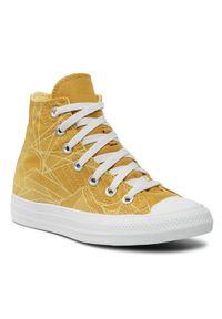 Converse Trampki Ctas Hi 170675C Żółty. Kolor: żółty
