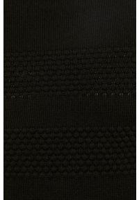 Czarny sweter PRODUKT by Jack & Jones z długim rękawem, z golfem, długi