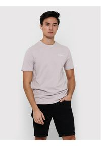 Only & Sons - ONLY & SONS T-Shirt Adam 22019288 Beżowy Regular Fit. Kolor: beżowy