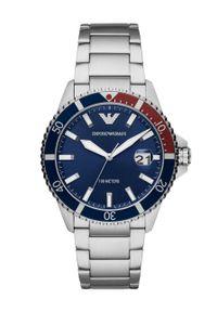 Emporio Armani - Zegarek AR11339. Kolor: srebrny. Materiał: materiał