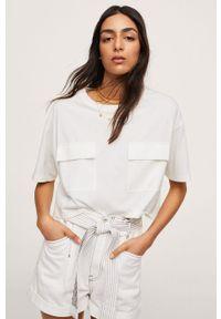 mango - Mango - T-shirt bawełniany SUNI. Kolor: biały. Materiał: bawełna