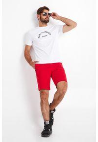 Karl Lagerfeld - T-SHIRT KARL LAGERFELD. Materiał: bawełna, elastan. Wzór: napisy