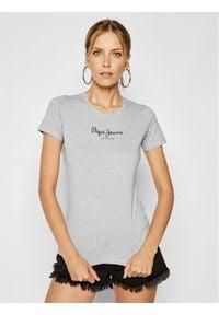 Pepe Jeans T-Shirt PL502711 Szary Slim Fit. Kolor: szary