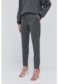 Nissa - NISSA - Spodnie. Okazja: na co dzień. Kolor: szary. Styl: casual