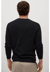 Czarny sweter Mango Man na co dzień, długi