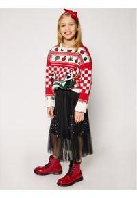 Little Marc Jacobs Sweter W15529 S Czerwony Regular Fit. Kolor: czerwony #6