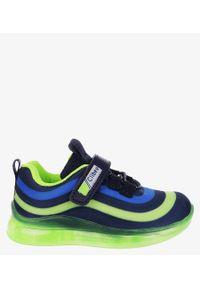 Niebieskie buty sportowe Casu na rzepy