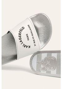 Białe klapki Karl Lagerfeld