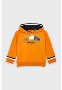 Pomarańczowa bluza Mayoral z nadrukiem, z kapturem, na co dzień #4
