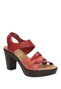 Czerwone sandały Verano eleganckie, na co dzień, na lato